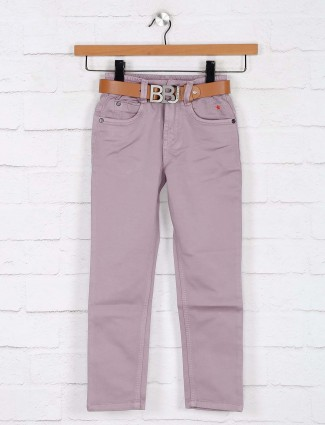 Bad Boys peach solid jeans for boys