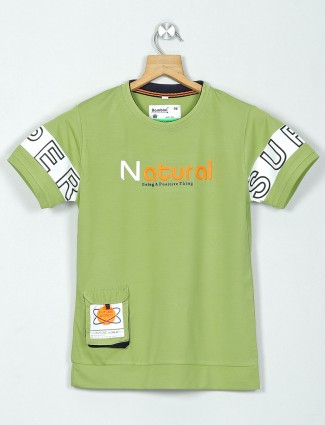 Bambini green casual t-shirt with print