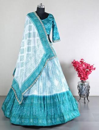 Beautiful party blue silk lehenga choli