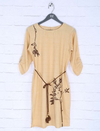 Beige color lovely cotton top