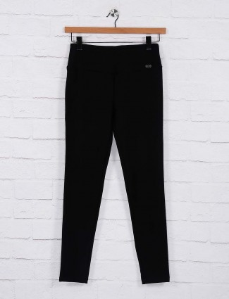 Black colored cotton fabric jeggings