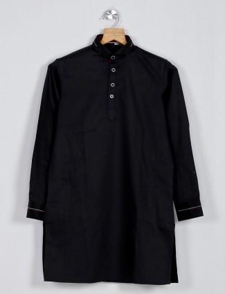 Black plain festive wear pathani suit