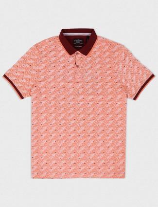 Blackberrys peach hue printed t-shirt
