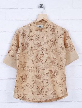 Blazo beige color designer shirt