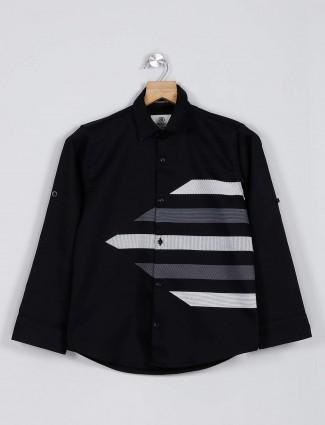 Blazo black printed casual shirt