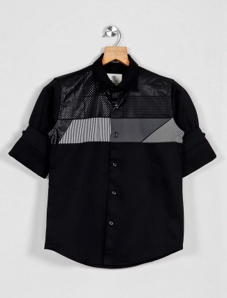 Blazo black printed casual wear shirt