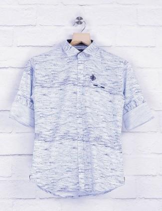 Blazo cotton fabric white shirt