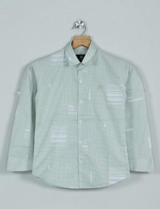 Blazo green casual wear printed shirt