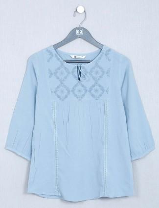 Blue cotton top design for women