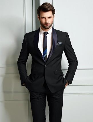 Blue hue mens solid coat suit party wear