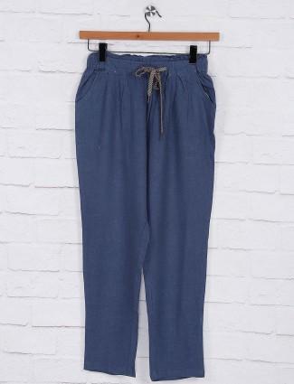 Blue hue women pyjama in cotton