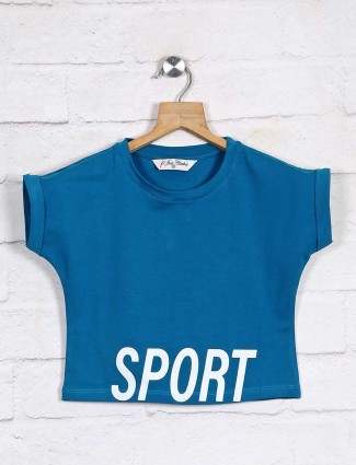Blue new design top for baby girl