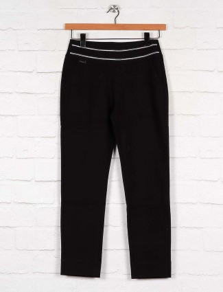 Boom solid black cotton fabric jeggings
