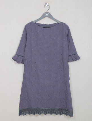 Casual purple cotton amazing top for women