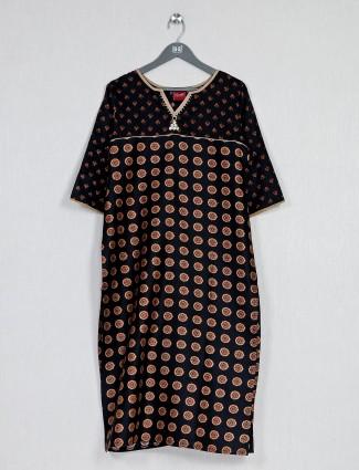 Casual wear black pritned kurti