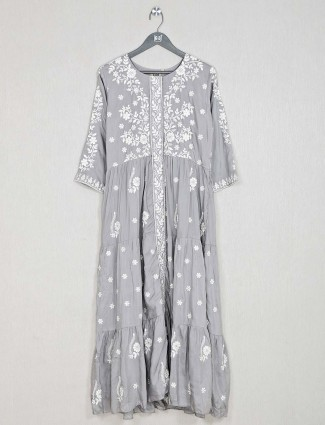 Casual wear kurti for women in grey hue