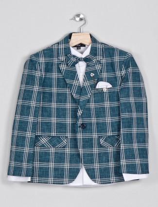 Checks green checks cotton tuxedo suit