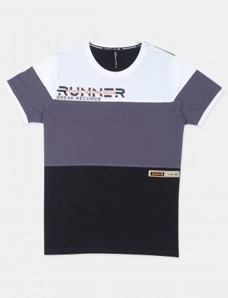 Chopstick black and black hue cotton casual t-shirt