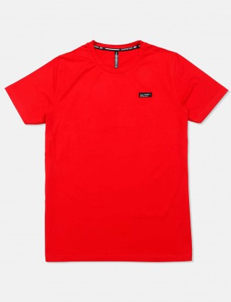 Chopstick casual wear solid red t-shirt