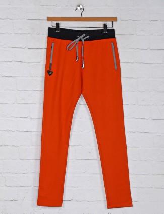 Chopstick comfort fit orange track pant