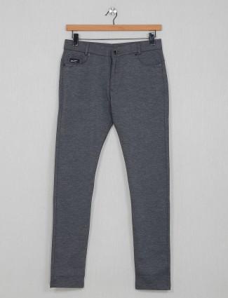Chopstick cotton solid grey track pant