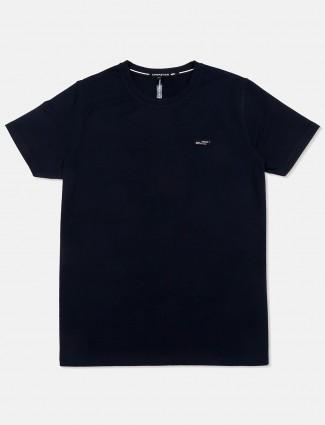 Chopstick navy solid cotton t-shirt
