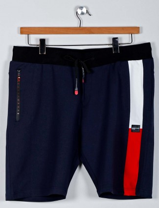 Chopstick solid navy casual shorts