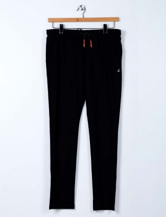 Cookyss black comfortable mens track pant