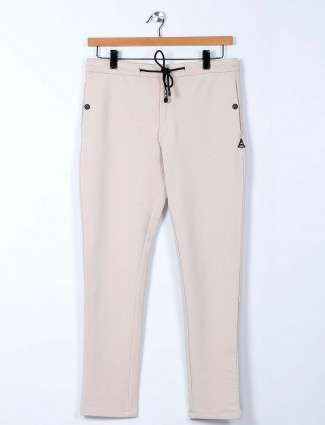 Cookyss cream cotton night track pant