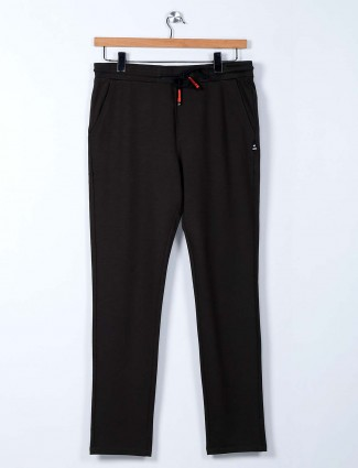 Cookyss grey cotton mens track pant