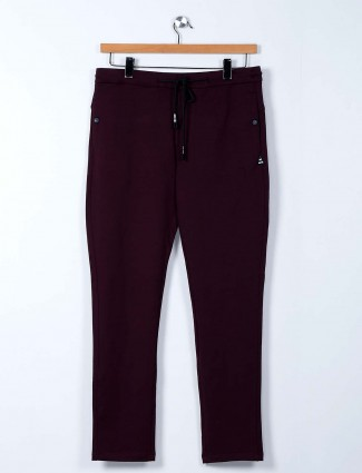 Cookyss maroon cotton track pant
