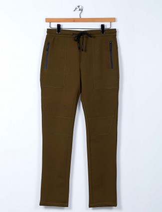 Cookyss olive cotton track pant