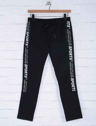 Cookyss solid black colored track pant