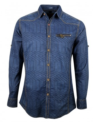 Copperstone blue denim men slim fit shirt