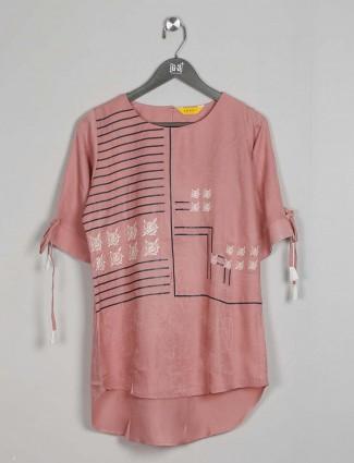 Cotton casual wear peach cotton top