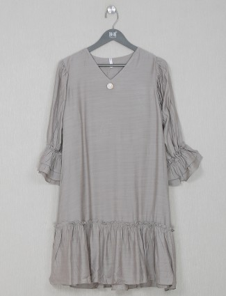 Cotton grey casual wear top