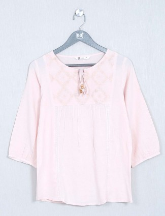 Cotton top for women in pink
