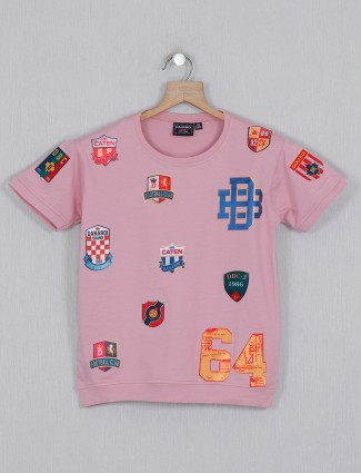 Danaboi printed cotton pink t-shirt