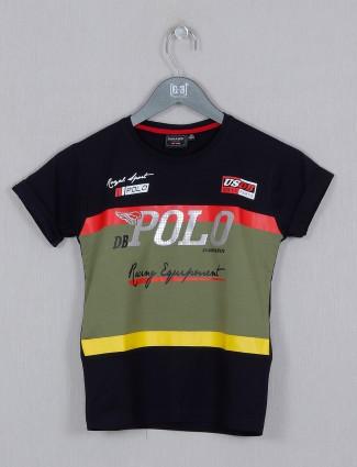 Danaboi printed navy casual t-shirt