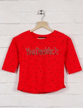 Deal beautiful red hue cotton top