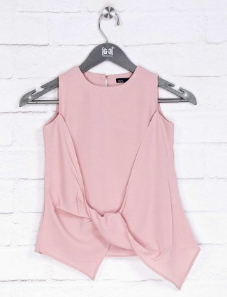 Deal casual wear cotton pink solid top