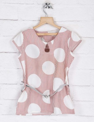 Deal presented printed pink cotton top