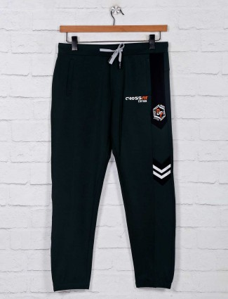 Deepee green cotton track pant for mens