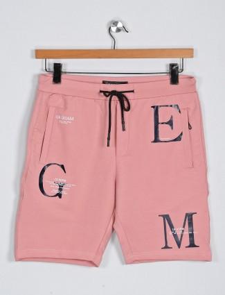 Deepee peach printed casual wear shorts
