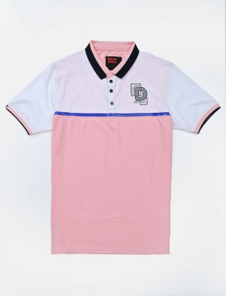Deepee pink printed cotton t-shirt