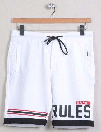 Deepee presented white printed shorts for men