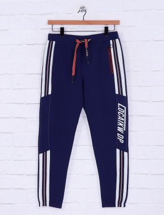 Deepee royal blue cotton fabric track pant