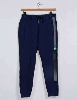 Deepee slim fir navy solid payjama
