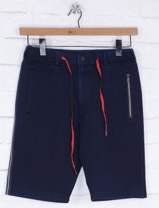 Deepee solid navy colored shorts