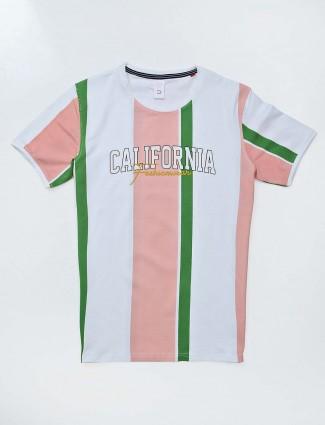 Deepee white stripe casual t-shirt